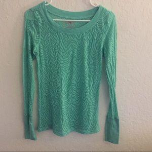 Mint long sleeve blouse